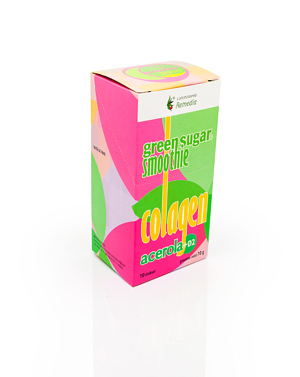 Smoothie cu Green Sugar, Colagen, Acerola + D2 (10 stickuri)