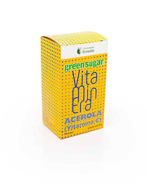 Vitaminera cu Acerola si Green Sugar (10 stickuri)