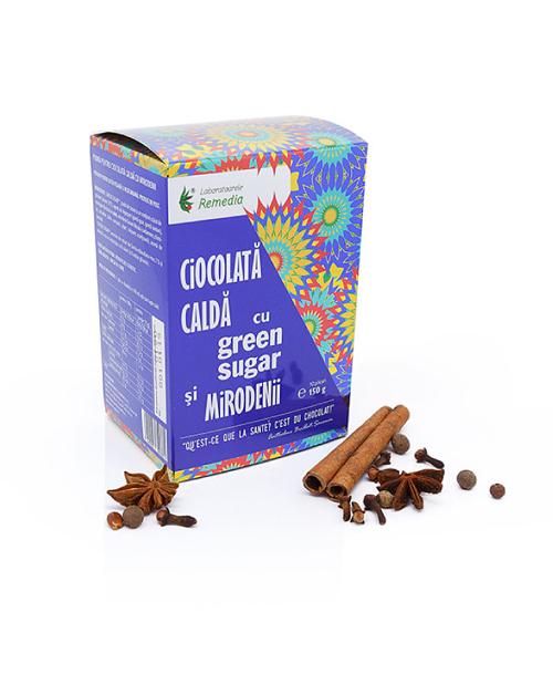 Ciocolata calda cu Green Sugar si mirodenii (10 plicuri)