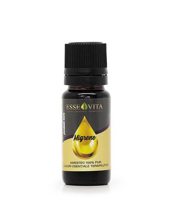 Amestec pur de uleiuri esentiale pentru migrene